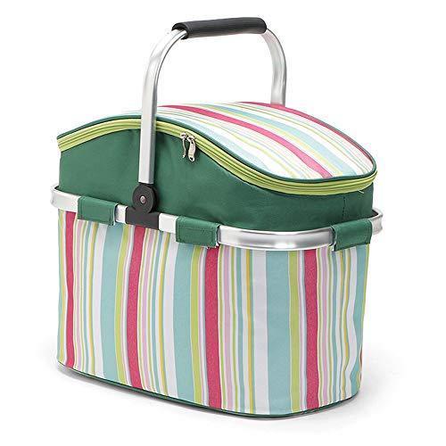 Festnight 26L Cooler Bag Picnic Basket Aislamiento Basket Cooler Case para Picnic Camping Senderismo Viaje a la Playa