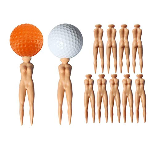 YUYUGO Pack of 20 Golf Tees 3' Golf Sexy Girl Lady Tees Nude Woman Plastic Golf Tees Fun Holder Divot Home Golf Training