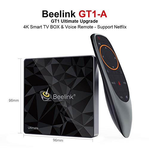 Beelink GT1 A TV Box Memory 3GB,Storage 32GB,Smart Voice Remote Control,Amlogic S912 CPU,WiFi 2.4G+5.8GHz,BT4.0,4K Smart TV Box,Verpackung EINWEG