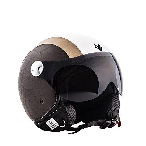 ARMOR Helmets AV-84 Casco Moto Demi Jet, Beige/Vintage Beige, XS (53-54cm)