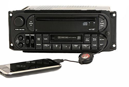 1 Factory Radio AMFM CD Cassette w Aux Input Compatible With 2002-2006 Chrysler Dodge Jeep P05091525AA RBP