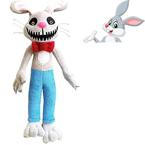 28 cm / 11IN MR Hopps Playhouse Peluche, MR Hopps Peluche Conejito de Miedo para los Amantes del Juego y Las muñecas (Mr Hopps)
