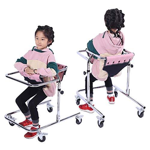 HTL Gehhilfe Hilfsständer Cerebralparese Hemiplegie Rehabilitation Trainingsgeräte Für Behinderte Wheeled Geeignet Für 80-120Cm Kindertraining,Rosa
