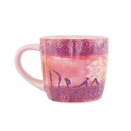 Bodhi YogiMug Keramiktasse 'Sun Salutation'   Keramiktasse (aubergine) mit Design-Print   nicht nur für Yoga-Fans   Kaffeetasse, Teetasse, Chai  ...