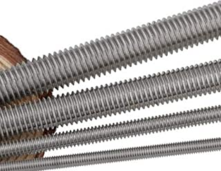 Ochoos M2/2.5/3/4x250mm 304 Stainless Steel Fully Threaded Rods Fasteners Silver Tone 5 Pcs - (Dimensions: M4 x 250mm 5pcs)