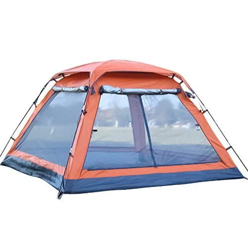 BBGSFDC Camping al Aire Libre 3-4 Personas Cuadrangular Cuadrado Top Cuatro Puertas con Pasillo Velocidad Automática Abrir Camping Sun Shade Tent Frame Tents