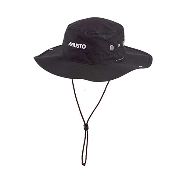 Musto Fast Dry Brimmed Hat in BLACK - UV Sun Protection and SPF Properties - Unisex