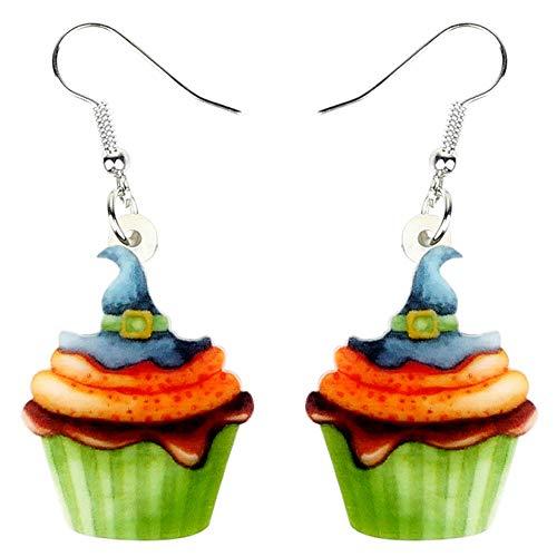 DFHTR Zubehör Acryl Halloween Magischer Hut Cupcake Ohrringe Baumeln Tropfen Niedlichen Schmuck Für Frauen Mädchen Weibliche Anhänger Ohrringe , Festival Geschenke