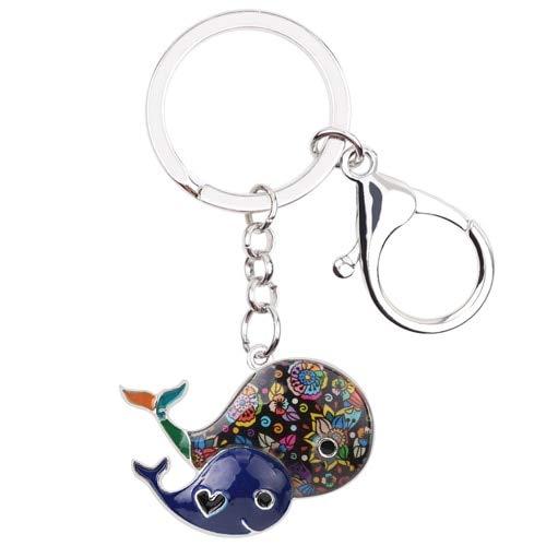 YASIKU Schlüsselanhänger in Form des Balena Schlüsselanhänger Geldbörse Schlüsselanhänger Schlüsselanhänger Nagellack Nagellack Moda Oceano Schmuck Tiere für Frauen, grün