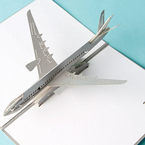 3D pop up Cards Carte postale vintage Air Avion Creative cadeaux anniversaire cartes de vœux Saint-Valentin pour les amoureux