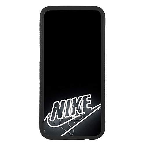 afrostore Funda Carcasa de móvil para Samsung Galaxy J7 (2017) Logotipo Nike Neon Logo TPU Borde Negro