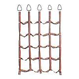 Dinggaoyikang Red de escalada para niños con 5 ganchos triangulares para niños, al aire libre, ribbon Net de entrenamiento físico, red de escalada de jardín, con 5 peldaños