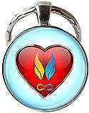 Twin flam Keychain Twin Flame Love Keychain Twin Flame Jewelry Heart Charm Jewelry Soul Mate Jewelry