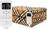 QULONG Manta eléctrica Comfort Polyester Manta de Tiro con calefacción con 3 configuraciones de Calor Protección contra sobrecalentamiento (Color: Naranja, Tamaño: 180 * 200 cm)