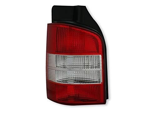 V-Maxzone VT240L Feu arrière gauche en verre transparent Rouge/blanc