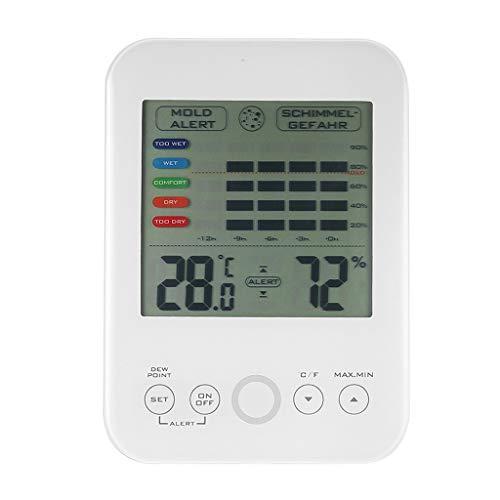 R-WEICHONG Digitales Hygrometer-Thermometer Wetterstation Mit Schimmelalarm Wet Dry Monitor Für Zu Hause