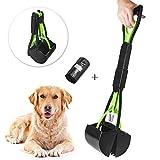 Beinhome Trottinette portable pour chien et chat avec sac à déjections pour ramasser facilement l'herbe et le gravier