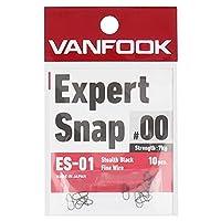 ヴァンフック(Vanfook) ES-01 エキスパートスナップ 10本入り ステルスブラック #00