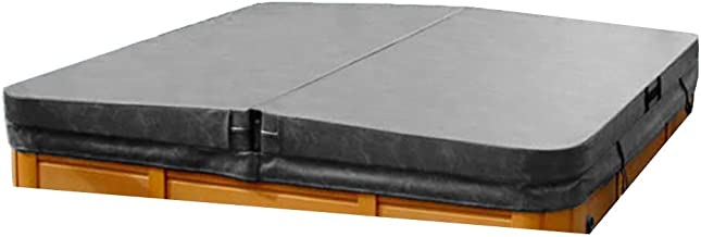 The Cover Guy Standard Hot Tub Cover - Custom Made Replacement Spa Cover 4 Inch Taper - Built for Mild to Moderate Climates - Charcoal