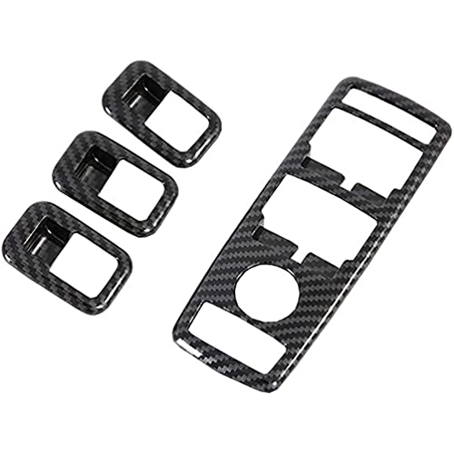 AXYP Car Carbon Fiber Window Lift Switch Button, for Tesla Model X S 2016-2019 Panel Covers Trims Frame Inner Accessories