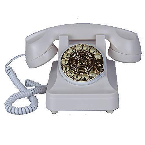 FHISD Teléfono Teléfono Fijo Antiguo Teléfono Antiguo Teléfonos de casa Mesa de Escritorio Oficina en casa Cable en Espiral Auricular con marcación por botón, Toma de teléfono estándar Teléfonos