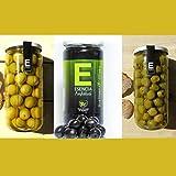 Aceitunas Manzanilla Extra Anchoa, sin hueso y Manzanilla negra. Aceitunas Manzanilla Pack 3 tarros, Aceitunas aliñadas, Aceitunas, Ideales para ensalada Aperitivos sanos, Aceitunas verdes