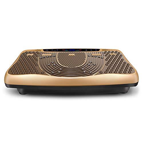 Topashe Plataforma Vibratoria 3D para,Máquina de Adelgazamiento silenciosa para Todo el Cuerpo, vibración Perezosa y máquina de agitación-Golden,Plataforma Vibratoria Oscilante