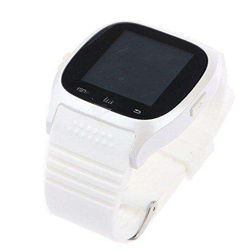 HuntGold Reloj de Pulsera Bluetooth Universal para iOS y Android Smartphone M26 - Blanco
