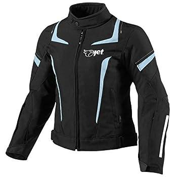 Jet Blouson Veste Moto Femme Imperméable avec Armure Textile (Bleu, 2XL (EU 44-46))