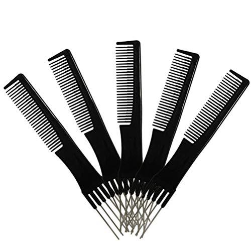 SOLUSTRE 5pcs professionnel aiguille en acier fourche peigne peigne à cheveux insérer des cheveux aiguille peigne coiffure outil de coiffure
