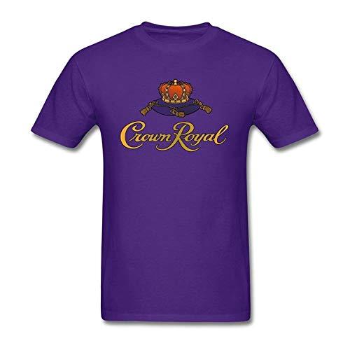 Crown Royal Herren & Jugendliche Fashion Baumwolle Rundhalsausschnitt Basic Kurzarm T-Shirt Gr. 6XL, violett