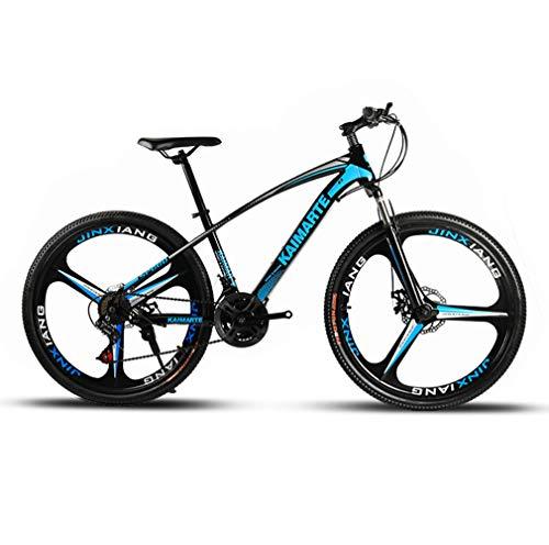 LYzpf MTB Mountainbike Fahrrad 26/24 Zoll 21/24/27 Geschwindigkeiten Legierung Stärkerer Scheibenbremse Stadler Bike Für Erwachsene Mann Frau Student,Blue-1,26inch-27S
