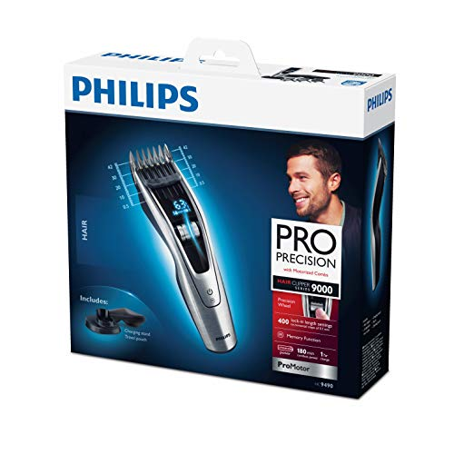 Philips Serie 9000 HC9490/15 - Cortapelos, ajuste fino cada 0.1 mm para el...