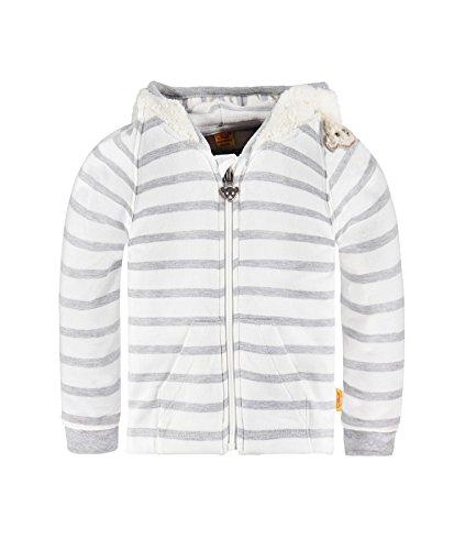 Steiff Sweatjacke1/1 Arm Sweat-Shirt, Gris mélangé (8200), 12 Mois Bébé Fille