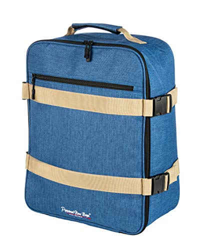 """One Size Fits Most Airlines Personal Item Bag Backpack Carry on Duffel Under The Seat 17""""x13""""x7"""" (Blue)"""