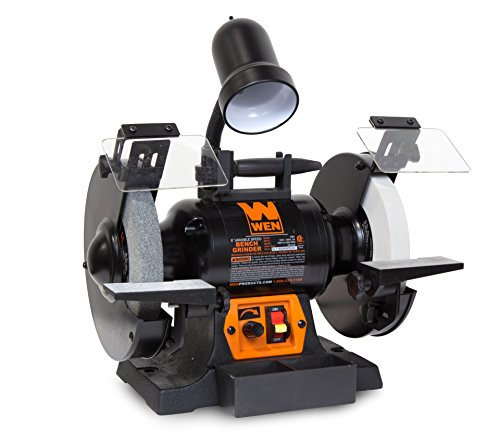 WEN 4280 5-Amp 8-Inch Variable Speed Bench Grinder with Work Light