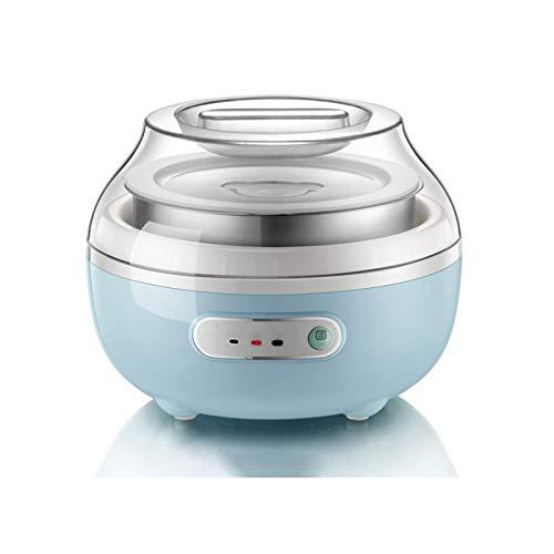UNU_YAN Moderne Einfachheit Joghurtmaschine Mikrocomputer-Timing 1 + 4 Liner-Keramikbecher 304 Edelstahl, kann zu Hause verwendet Werden (Farbe: blau)