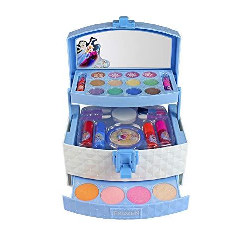 Blue-Yan Girls Cosmetics Toys, Set de Maquillaje de Princesa Disney para niñas, Juguetes cosméticos Lavables con Sombra de Ojos, lápiz Labial, Esmalte de uñas, brocha, hojaldre y Rubor, 32 Piezas