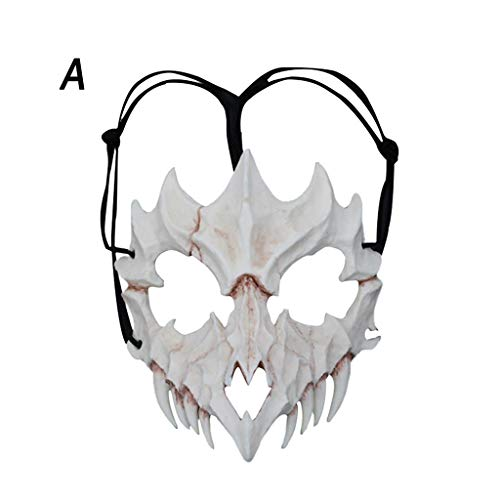 Fine Halloween Party Mask,High Resin Hard Resin Mask,Halloween Animal Bones Costume Mask Masquerade Cosplay Decoration Prop Mask (A)