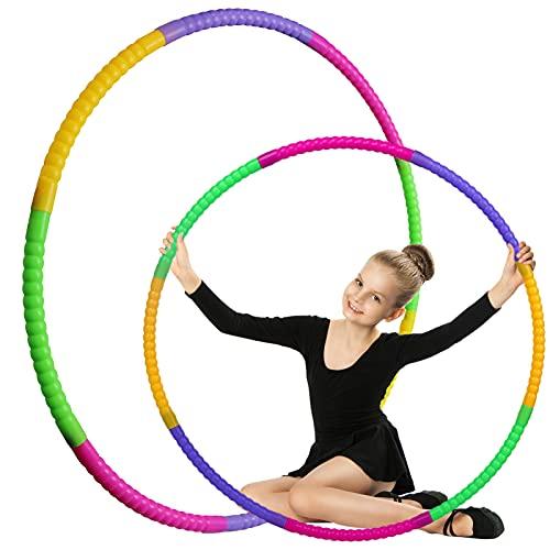 Hula Hoop Fitness niños,Hula Hoop Fitness Desmontable,8 Secciones Hula Hoop Ejercicio Infantil Aros para Gimnasia,Baile,Juegos
