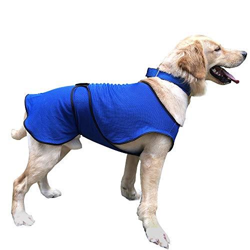 Pawhut Manteau rafraîchissant pour Chien Manteau d'été Taille L Polyester Bleu