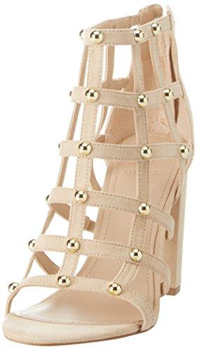 Guess Footwear Dress Shootie, Escarpins Bout Ouvert Femme, Avorio Light Natural, 39 EU