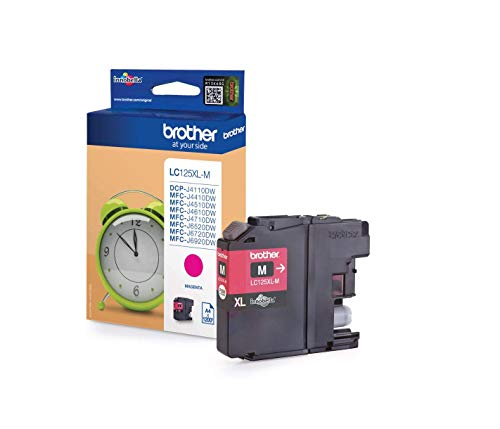 Brother LC-125XLM LC-125XL Tintenpatrone hohe Kapazität 1.200 pages, magenta