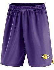 Pantalones Cortos para Hombre De La NBA Los Angeles Lakers Formación Atletismo De Punto Pantalón Casual Cómodo Logotipo Flojo del Equipo Shorts De Playa para El Verano para Jóvenes