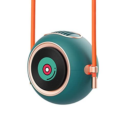 JIABAN Mini ventilador sin aspas USB, ventilador de cuello manos libres, diseño ligero, turbina vertical fuerte viento recargable