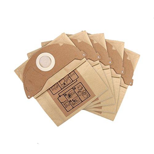 Ytt 5?pcs papier Sacs ? poussi?re et changement de filtre Sacs avec haute efficacit? Aspirateur de nettoyage de pi?ces pour Karcher MV2?Wd2,000-wd2.399?etc.