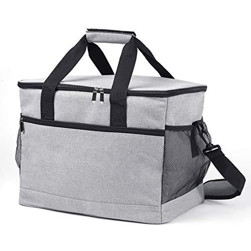 Oxford Street Kühltasche Picknicktasche Faltbar, 33L Groß Lunchtasche Thermotasche Isoliert Mittagessen Tasche für Lebensmitteltransport Wärme und Kälte für Büro Arbeit Picknick Camping Ausflug