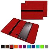 NAUC Notebook Tasche kompatibel für Lenovo Yoga 520 14 Zoll Hülle Filz Sleeve Case Schutzhülle Cover, Farben:Rot