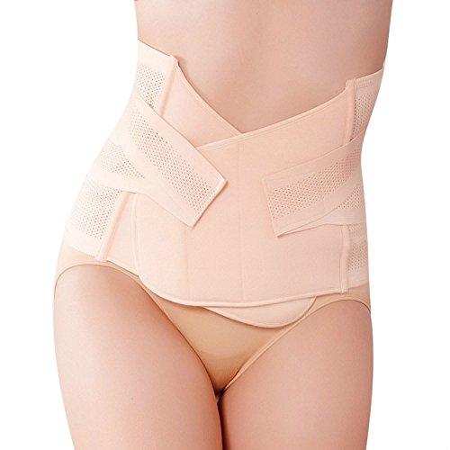 Fenrad elastico traspirante ventilazione postparto Postnatale gravidanza cinghia di recupero per fianchi vita che Dimagrisce Shaper Wrapper Belt post Pregnancy Belly Band 1 Piece Hole, large