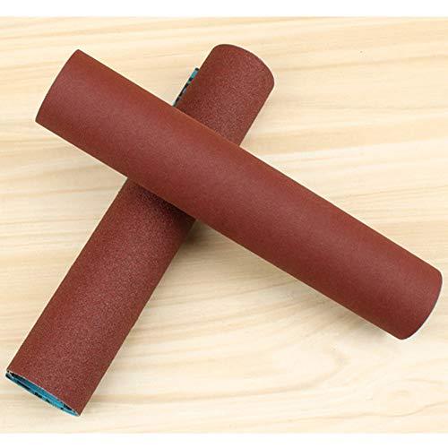 QINGRAN, Schleifpapier 2 Stück 60-240 Körnung für Schleifwerkzeuge Dremel Holzbearbeitungsmöbel Metallbearbeitung Emery Cloth Roll Polishing Sandpapier, 180#